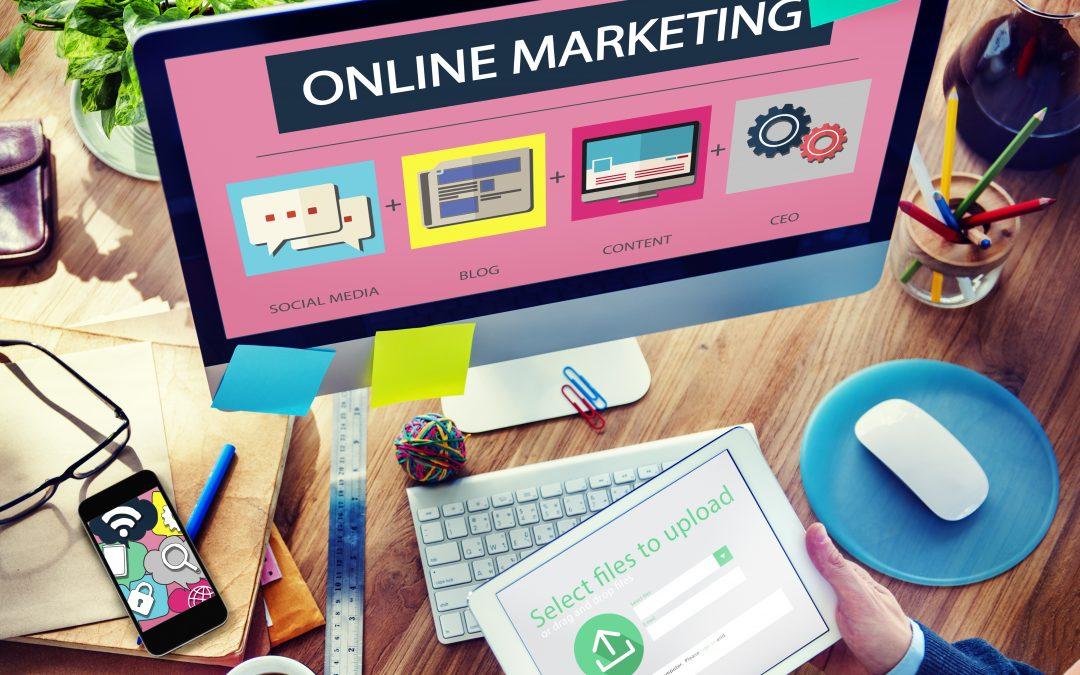 Online marketing - computer
