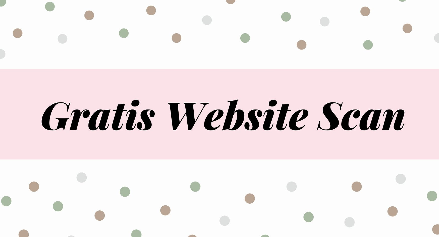 Gratis Website Scan Zwart